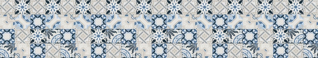 Décor Floral Blue 522